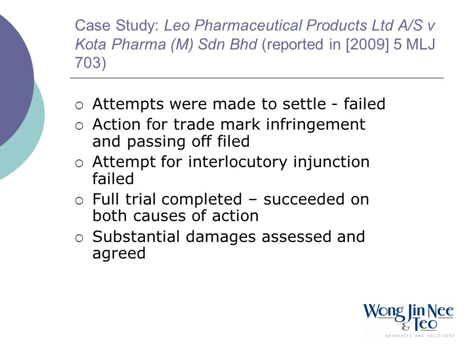 Case Study: Leo Pharmaceutical Products Ltd A/S v Kota Pharma (M) Sdn Bhd (reported in [2009] 5 MLJ 703)